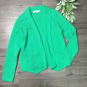 ANN TAYLOR LOFT | sz S Kelly Green Sweater Blazer